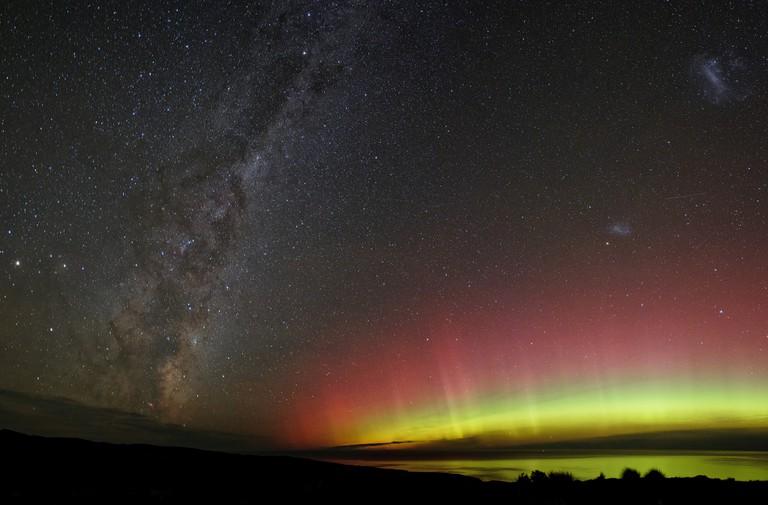 Aurora Australis in New Zealand