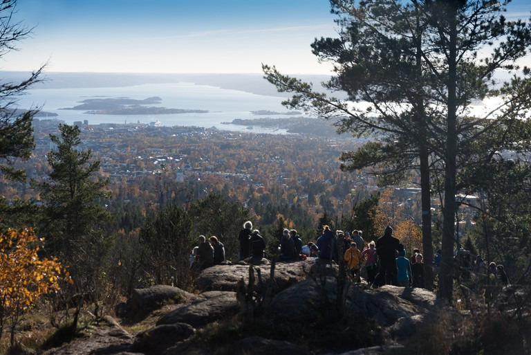 View of Oslo from Vettakollen