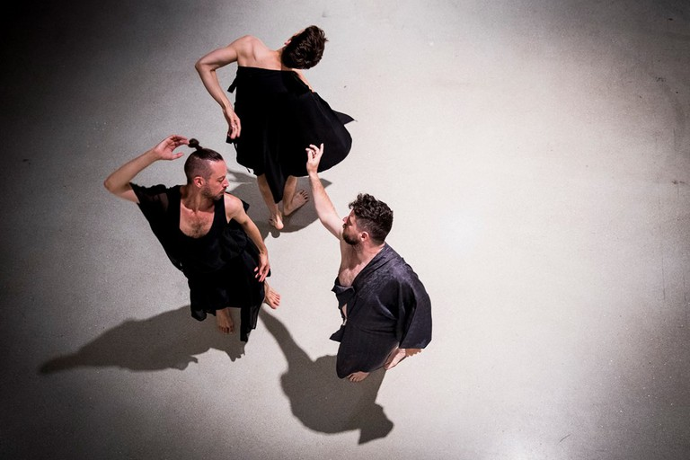 'Ghost Trio', Trajal Harrell: Hoochie Koochie (installation) at Barbican Art Gallery