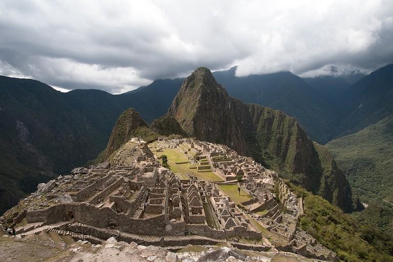 A classic view of Machu Picchu, Peru