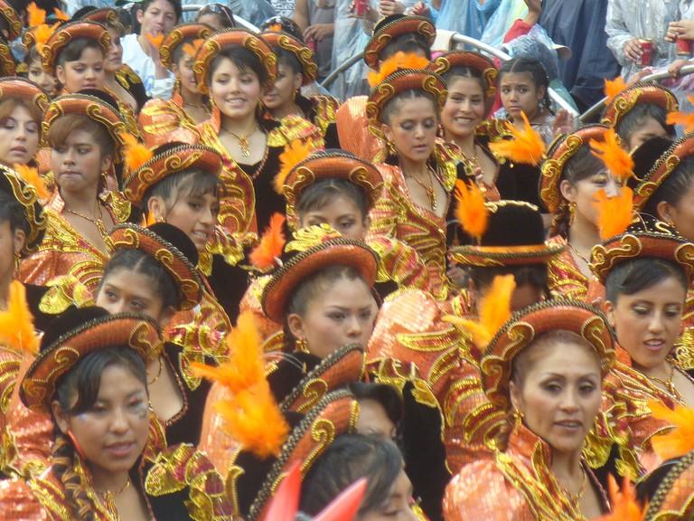 Aymara Bolivian dancers