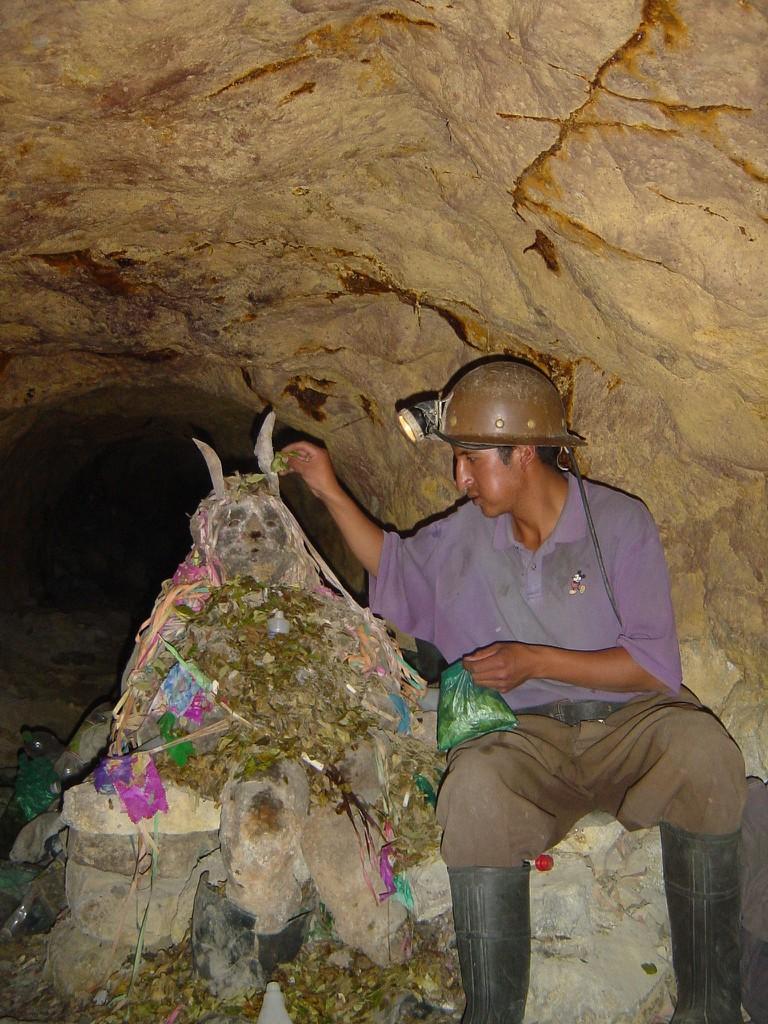 Miner with El Tio