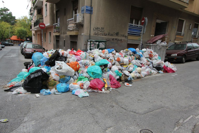Municipality workers on strike, Athens