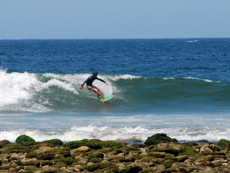 Surfing at Manorca, Peru