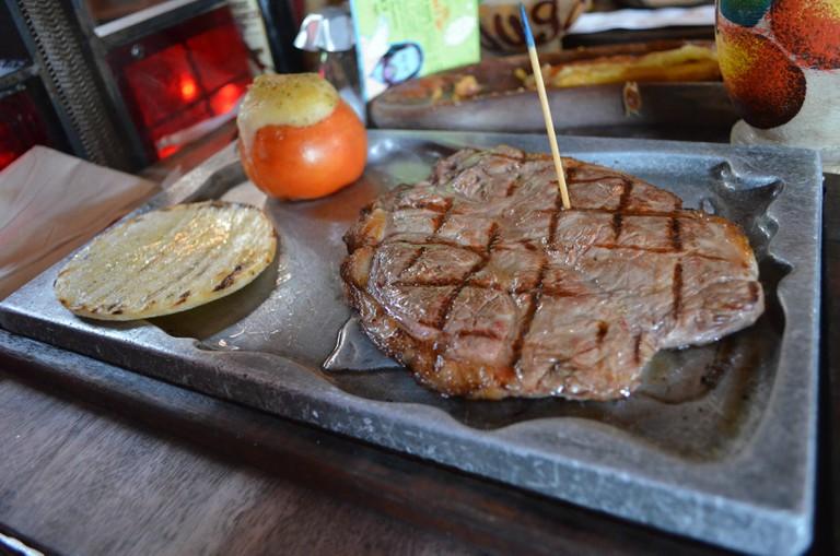A churrasco steak at Andres Carne de Res