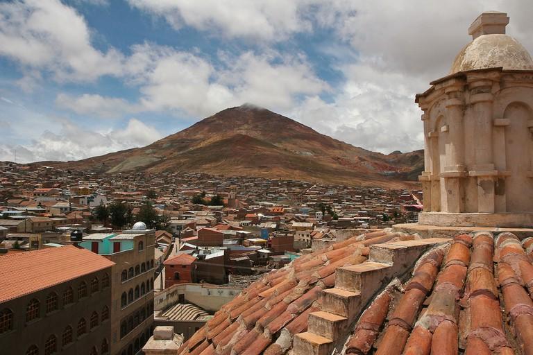 Potosi with Cerro Rico in the background