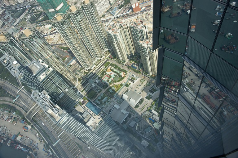 An aerial view of Sha Tsui in southern Kowloon, Hong Kong