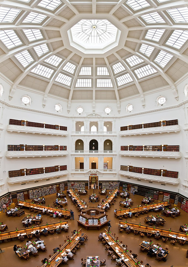State Library of Victoria La Trobe Reading room 5th floor view