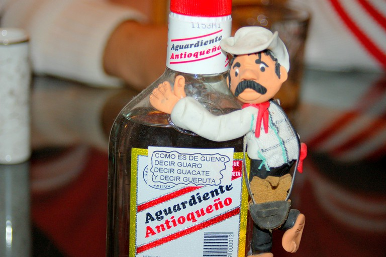 Be like this little guy, and say yes to aguardiente!