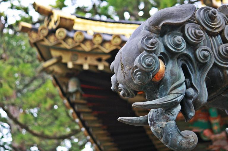 Detailing on Yomeimon Gate at Toshogu Shrine, Nikko