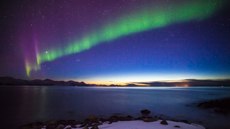 Northern lights at Harstad