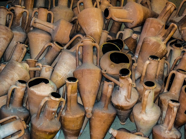 Collection of amphora found on the seabed