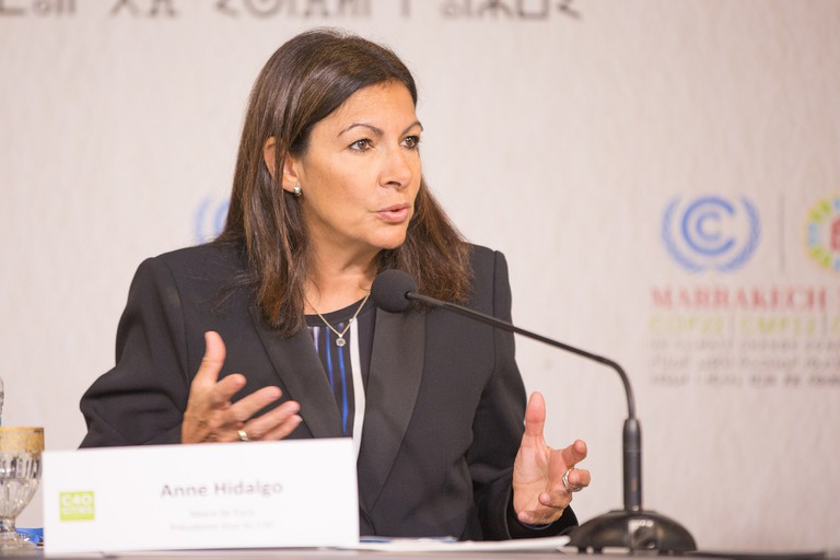 Anne Hidalgo speaking at Women4Climate│© Unclimaitechange / Wikimedia Commons