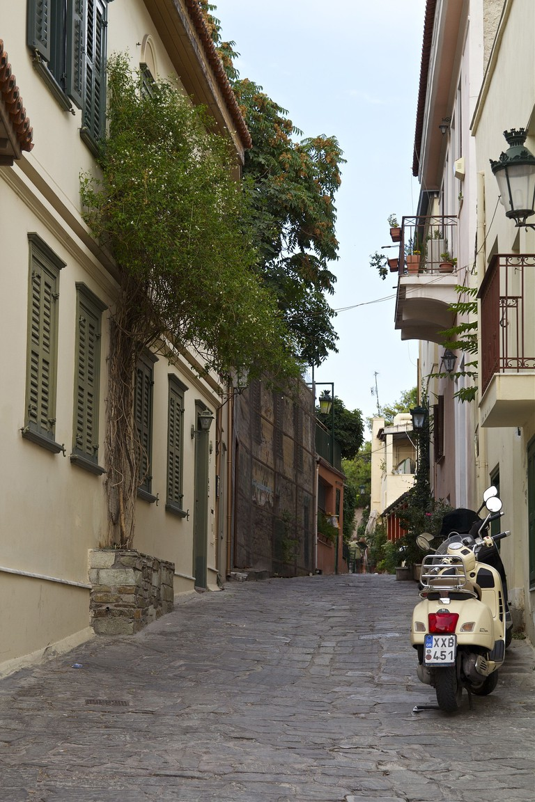 A quiet street in Athens