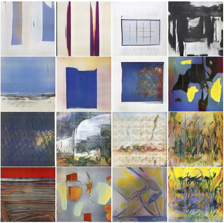AI-Generated artworks | Courtesy of the Art and Artificial Intelligence Lab at Rutgers University.