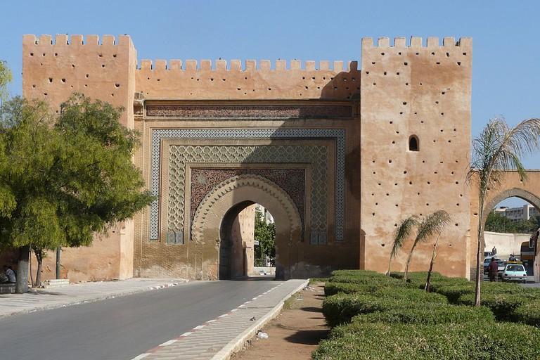 Ornamental gate in Meknes