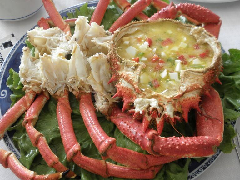 baked spider crabs (Txangurro) - Basque cuisine