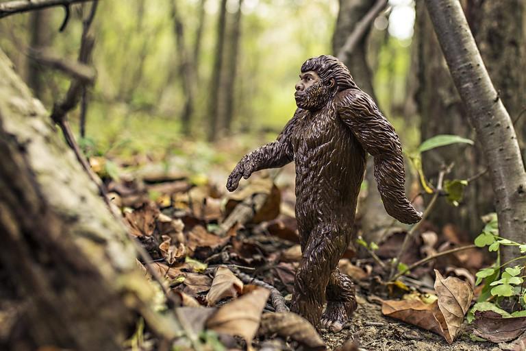 A Sasquatch figurine