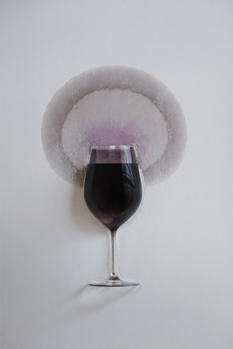 """Michael Blazy's work, """"Le mur qui boit du vin"""""""