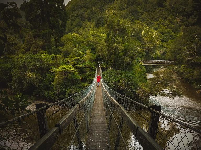 The 'Rivendell Bridge' in Kaitoke Regional Park