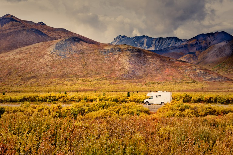 RV along the Dempster Highway