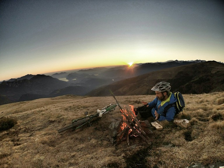 Camping with bike