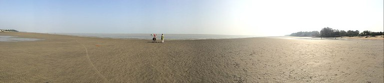 Chandipur Beach at Low Tide