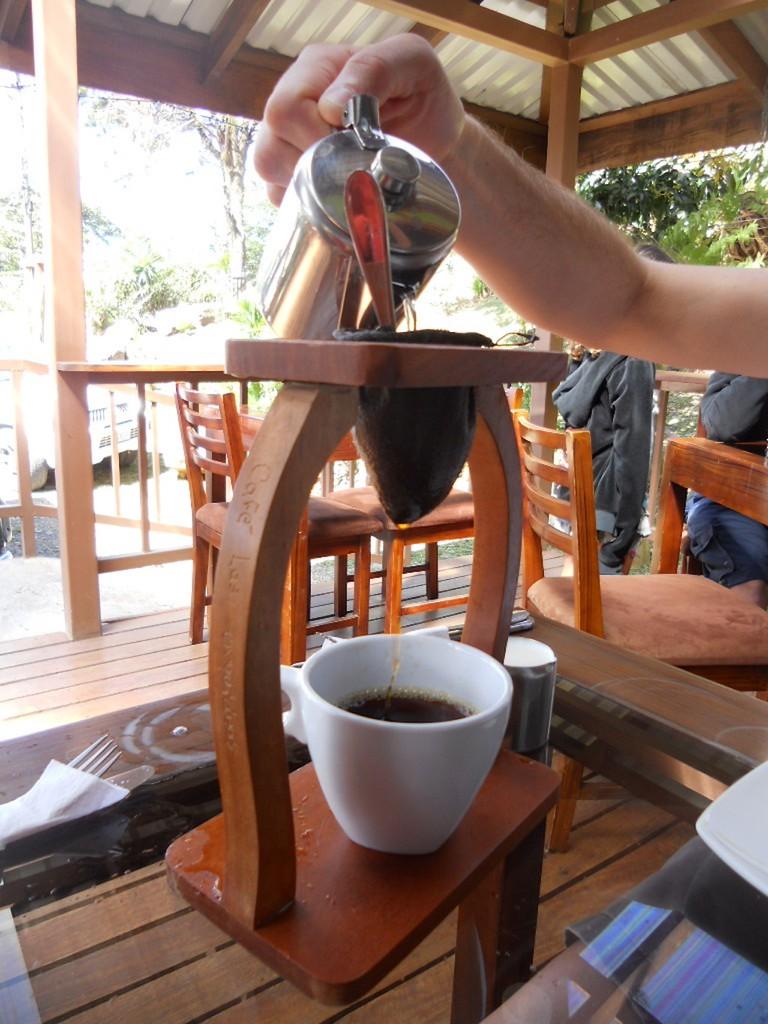 Coffee served Costa Rica style I
