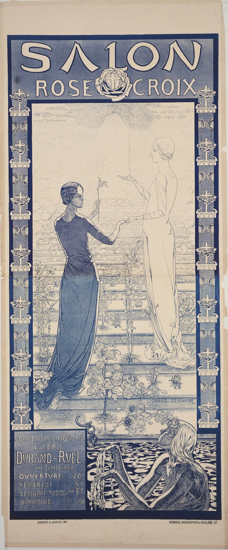 Carlos Schwabe Poster for the First Salon de la Rose+Croix, 1892. The Museum of Modern Art, New York, Given anonymously, 1987. Digital image © The Museum of Modern Art/Licensed by SCALA/Art Resource, New York.