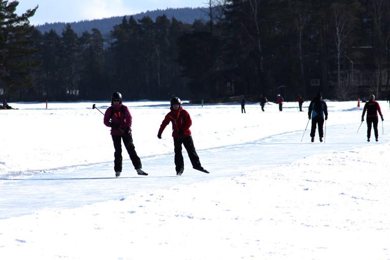 Dalarna has excellent nordic skating conditions