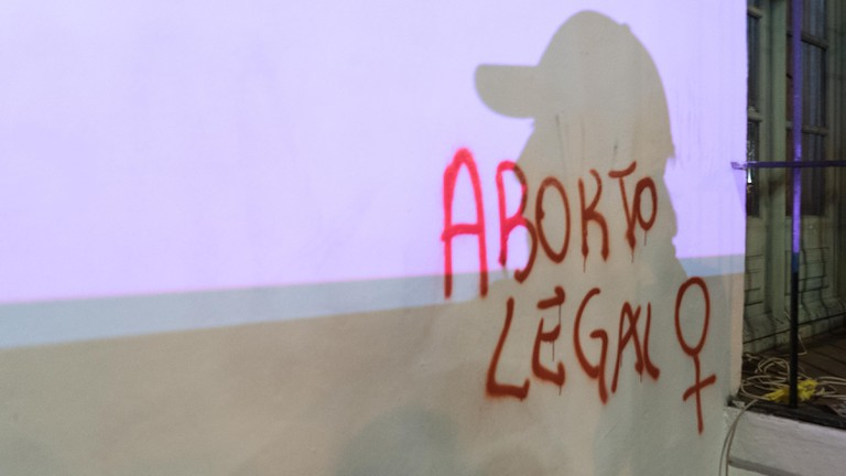 Graffiti campaigning for legal abortion