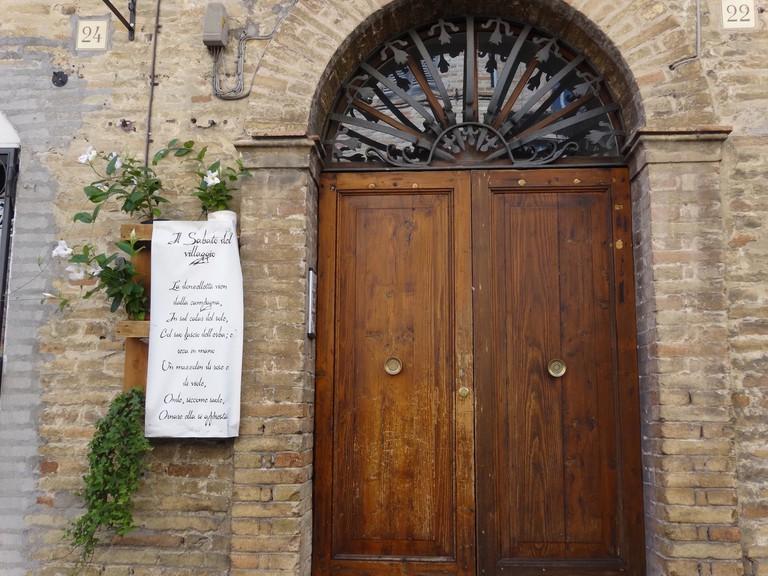 LLeopardi's poem in Recanati