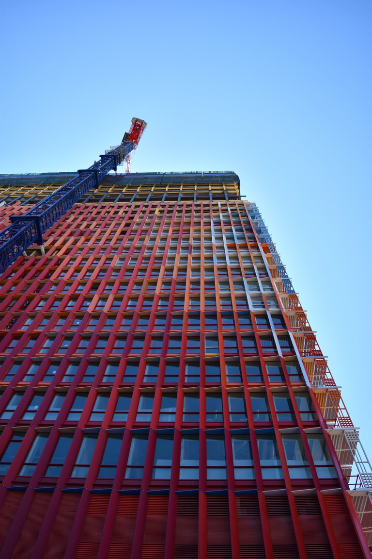Huge swathes of offices and apartment blocks are still being built