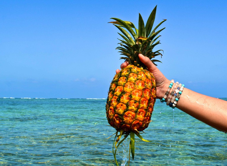 Pineapple at the beach