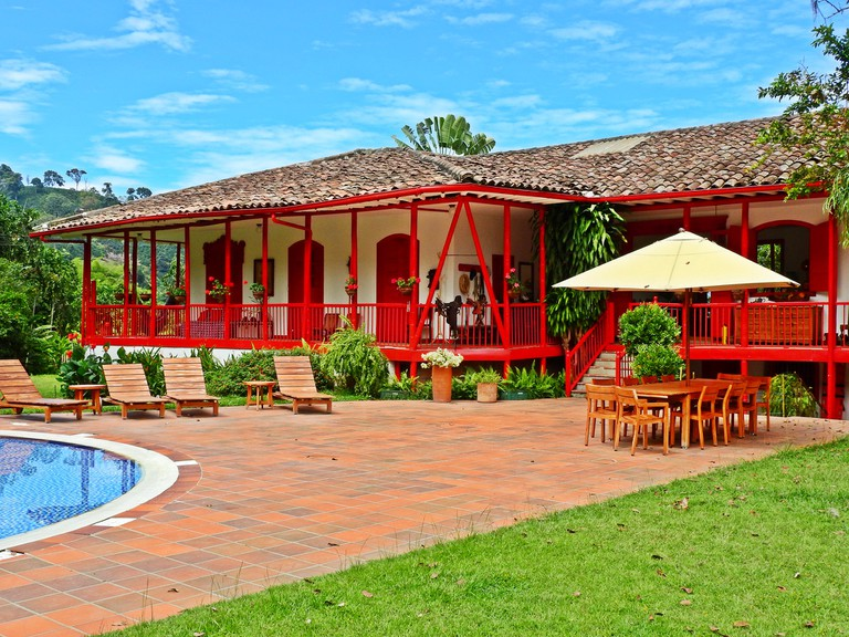The beautiful main house of Hacienda Venecia