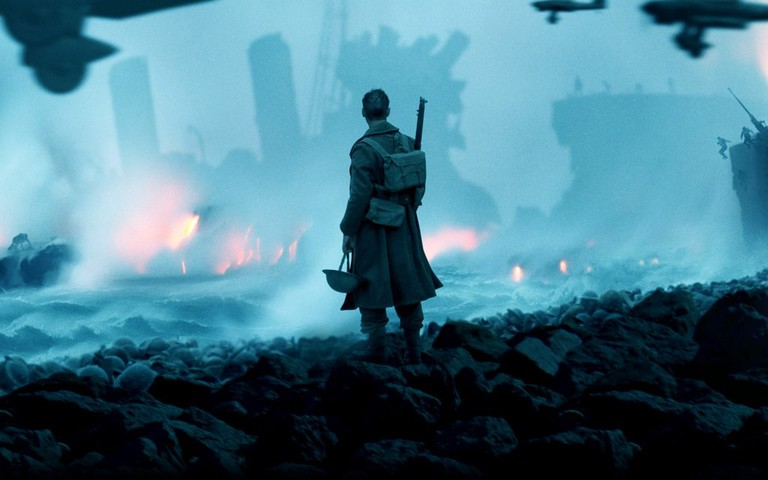 Destruction wrought by a faceless enemy in Dunkirk
