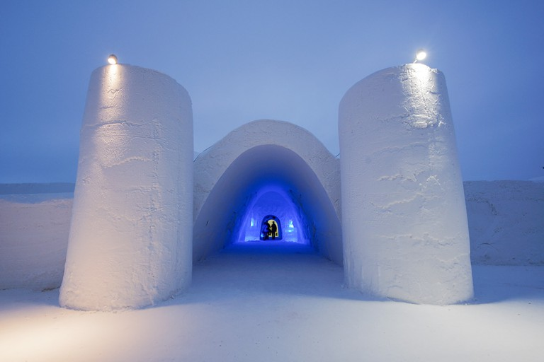 The Snow Castle Entrance from 2014