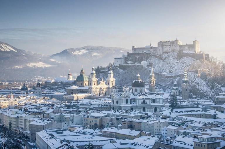 Snow-speckled Salzburg
