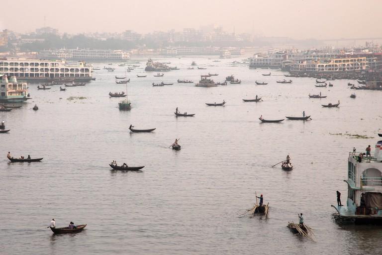 Sadarghat harbor, Dhaka, Bangladesh