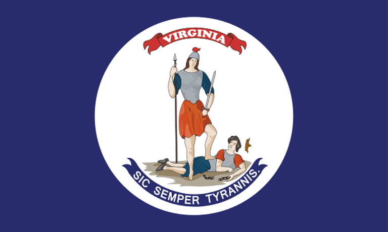 Virginia state flag that was used during the 1860s