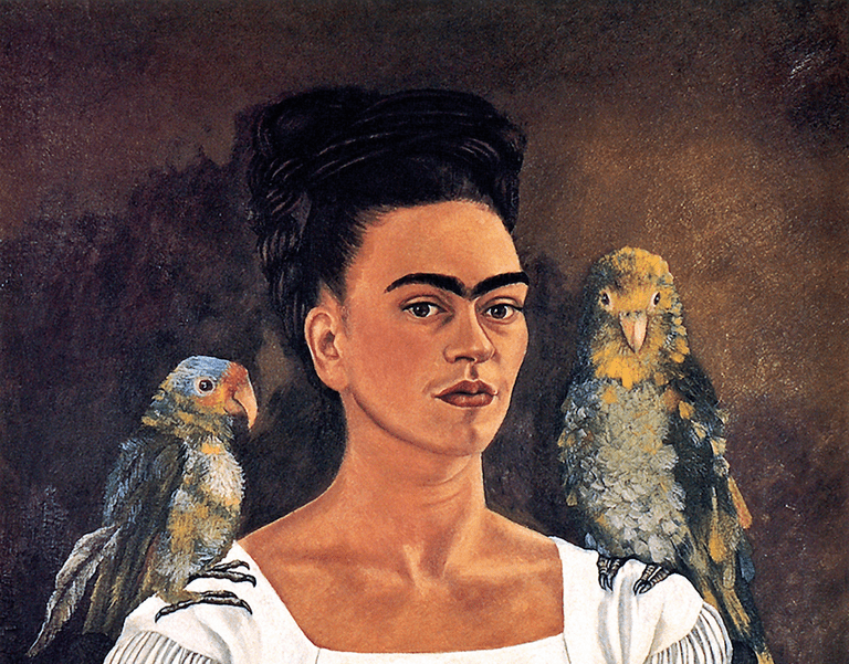 Frida Kahlo, 'Me and My Parrots/Yo y mis pericos,' 1941 | © 2007 Banco de México Diego Rivera & Frida Kahlo Museums Trust. Photo by libby rosof/Flickr