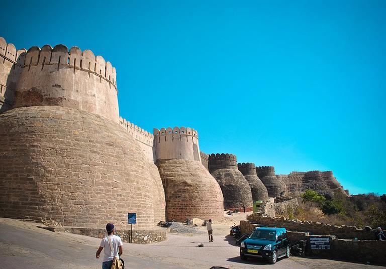 Frontal Wall of Kumbhalgarh Fort