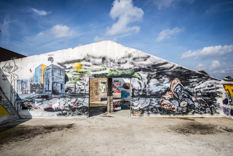 Ghent's graffiti-rich gravel pits | courtesy of Visit Ghent