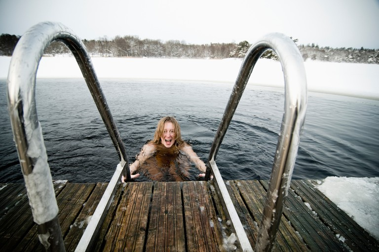 Try the sauna, then jump into the lake – all year round / Photo courtesy of Image Bank Sweden