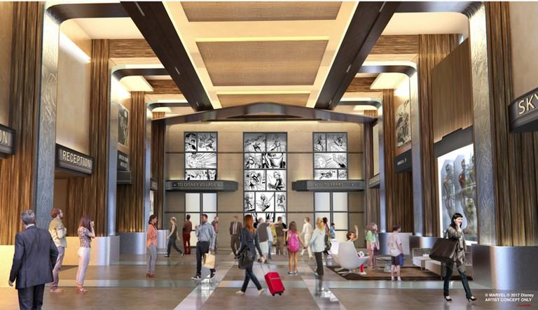 Hotel New York Lobby │© Walt Disney Company