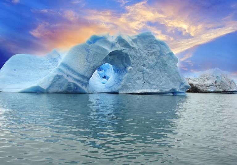 The icebergs of Spegazzini glacier