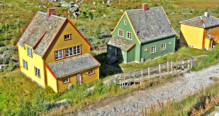 Tiny homes beside Myrdal Station