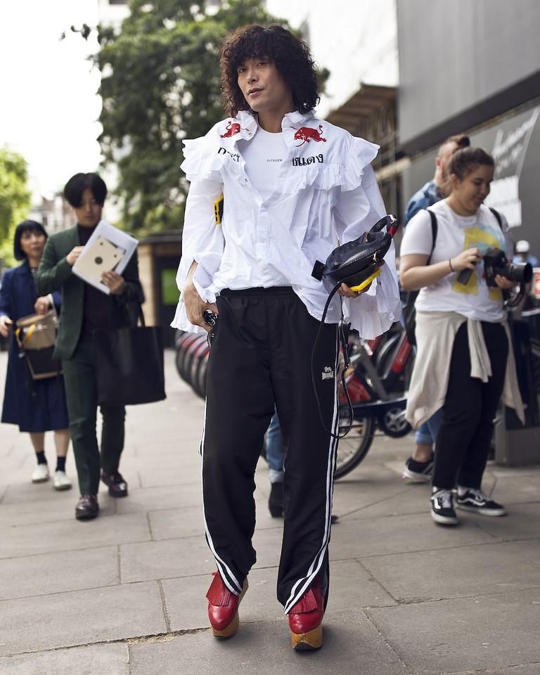 London Fashion Week Mens street style SS18