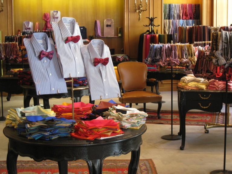 Inside the Charvet store │ Courtesy of Charvet