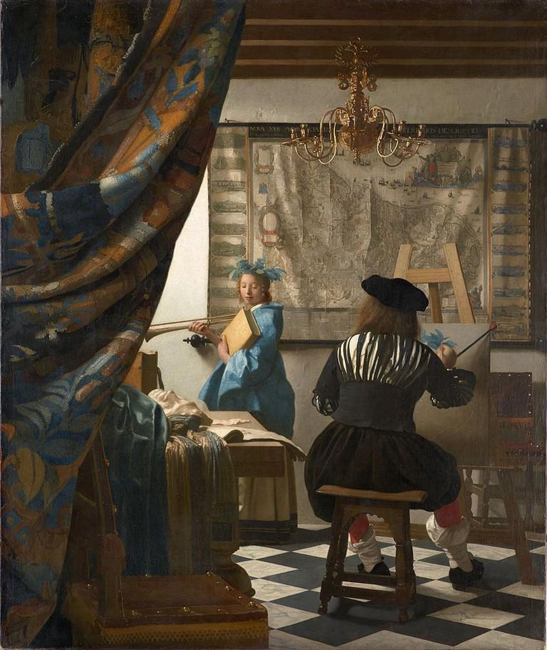Jan Vermeer, 'The Art of Painting' (1666-1668) | Via Google Art Project/WikiCommons